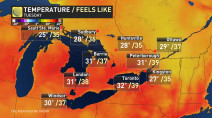 Ontario: Temperatures soar as moisture brings flooding risk