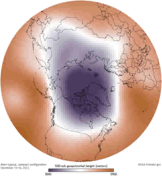 November2013 polar vortex geopotentialheight mean Large