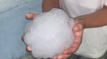 Storm batters Texas city with hail bigger than softballs