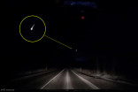 Watch a blazing fireball shatter on its plunge from space Monday night