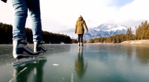 Wild skating season gets underway in Banff National Park