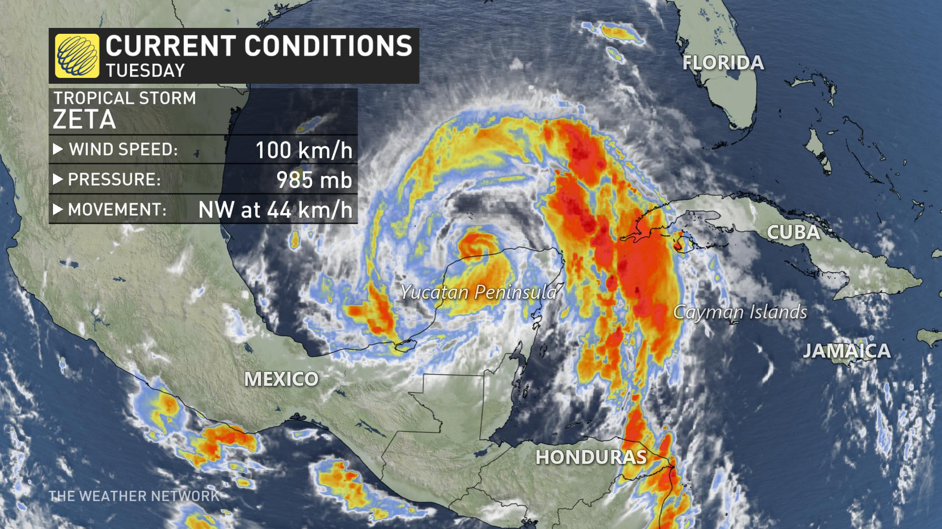 Tropical Storm Warning: Zeta In The Gulf, Expected To Become Hurricane Soon