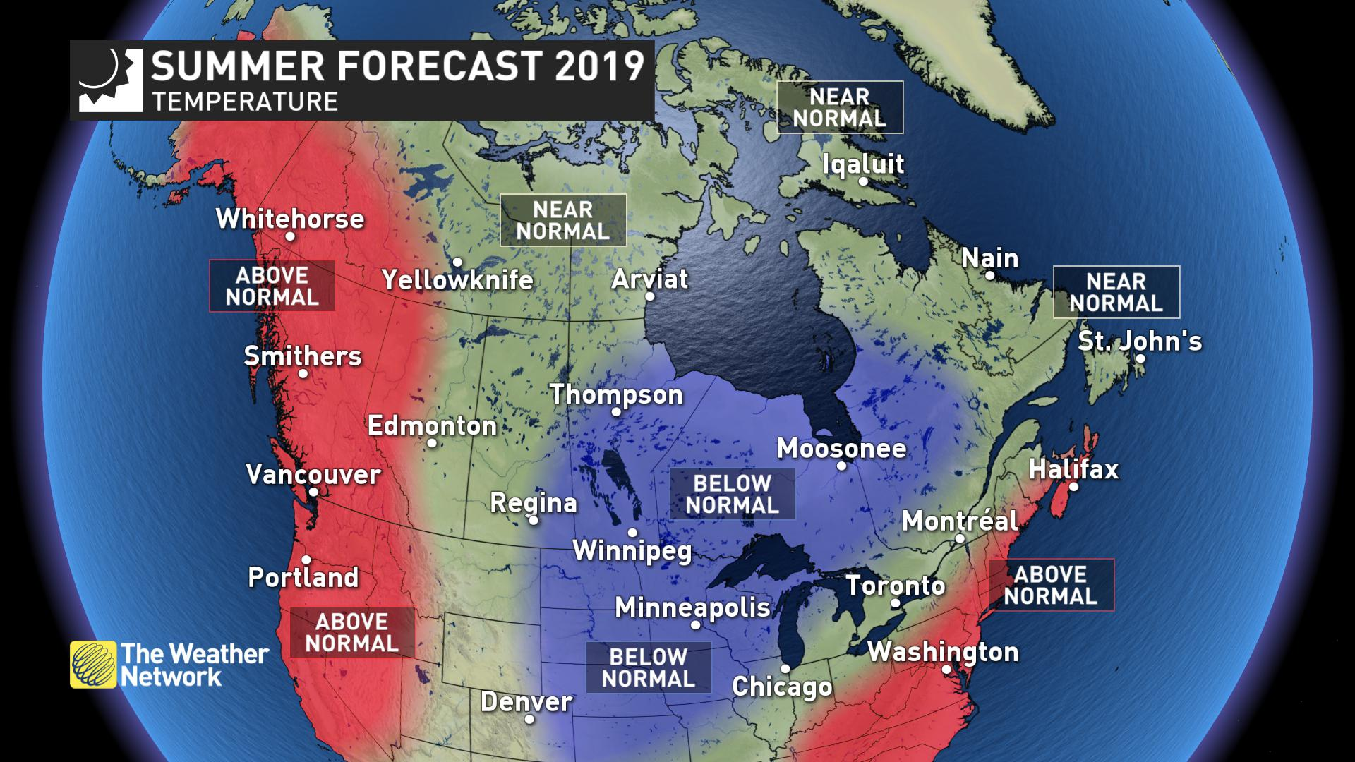 The Weather Network has released BC's long-term summer forecast