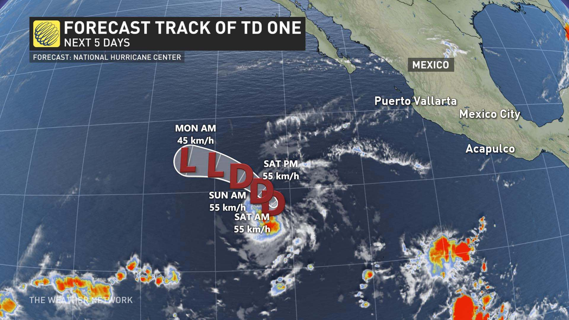 Earliest recorded tropical cyclone forms in eastern Pacific