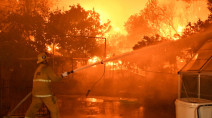 Firefighters make progress against deadly Los Angeles wildfire