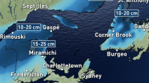 Classic fall storm bringing a taste of winter to Atlantic Canada