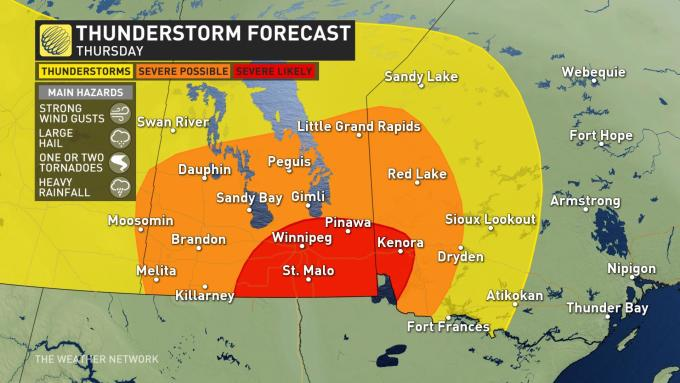 The Weather Network - TORNADO WATCH issued for southern ...