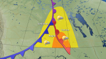 Risk of storms moves from Alberta to Saskatchewan on Tuesday
