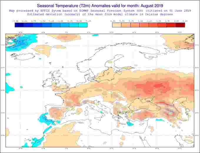 Heat forecast august 2019