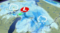 Widespread snow, gusty winds accompany clipper system pushing into Ontario
