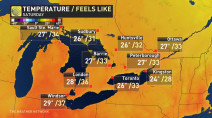 Ontario: Record high temperatures to get a tropical disruption