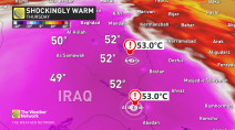 Several cities in Iraq reach 53°C amid intense heat wave