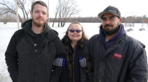 'Guardian angel' roofers save woman from drowning in icy Canadian river