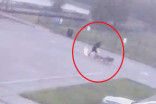Caught on cam: Lightning strikes man, shoes blown off and clothes charred