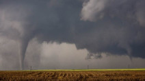 MUST SEE: Up close and personal with twin tornadoes