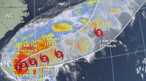 Humberto strengthens into a hurricane, takes rare aim at Bermuda