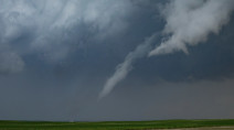 Funnel clouds may feature in Prairie skies, northern showers continue