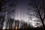 Rare pillar lights appear in Alberta skies