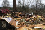 A year ago today, 2 dozen tornadoes ripped through the Deep South, killing 3