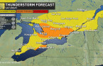 Ontario: Hot, sticky weekend with widespread thunderstorm risk