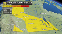 Prairies: 'Thunderstorms are everywhere' Monday, late-week blast of heat