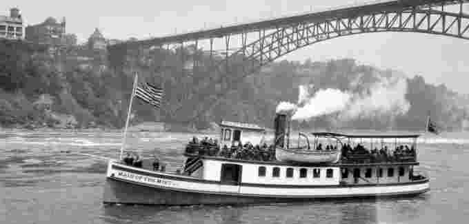 Maid of the Mist beneath Honeymoon Bridge, circa 1920