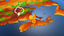 Severe storm risk for parts of the East Coast, some relief from heat ahead