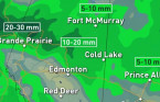 Prairies: Another day of rain, storm risk to start the week
