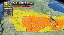 Prairies: High humidity, severe thunderstorms continue