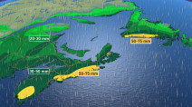 Atlantic: Heavy rain, damaging winds for weekend storm