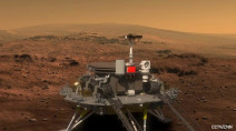 China's Zhurong rover successfully touches down on the surface of Mars