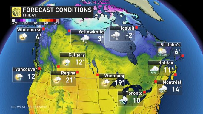 The Weather Network True Canadian Easter Periods Of Snow
