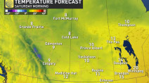 Prairies: Major cooldown as unsettled pattern dominates