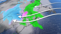 Atlantic: Unusual storm track brings snow, rain from east to west