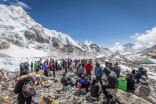Mt. Everest base camp closed to tourists due to litter issue