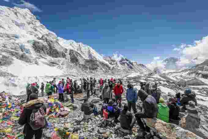 GETTY IMAGES Mount Everest basecamp