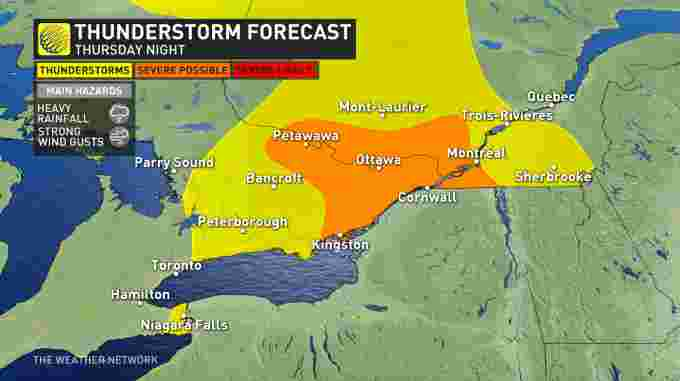 Ontario storm overnight