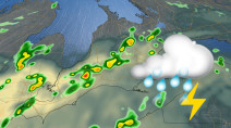 No break in the severe weather potential, with risk shifting in Ontario