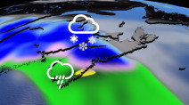 Atlantic: Heavy snow, strong winds from ongoing Atlantic system