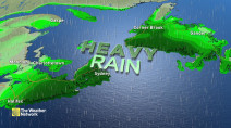 Atlantic: Heavy rain risk looms for the weekend, but with huge temp boost